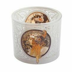 Mucha - Byzatine Heads Tealight