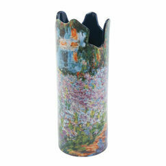 Monet Irises in Garden Vase