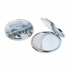 Market Scene Pocket Mirror