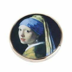 Vermeer Girl with the Pearl Earring Pocket Mirror