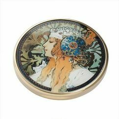 Mucha - Byzatine Heads Pocket Mirror