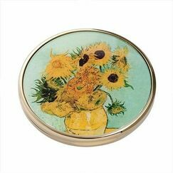 Van Gogh - Sunflowers Pocket Mirror