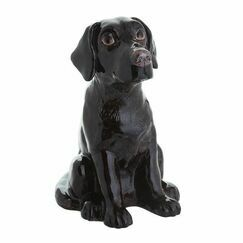 Black Labrador Money Bank