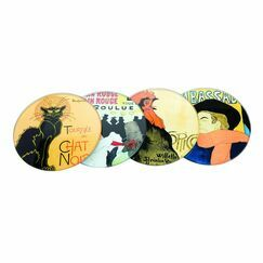 Lautrec/Steinlen - Glass Coaster (4 Pack)