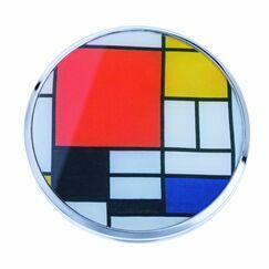 Mondrian Composition with Red Plane Pocket Mirror