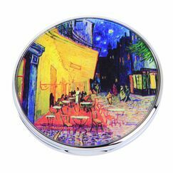 Van Gogh Terrace Du Cafe Le Soir Pocket Mirror