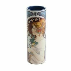 Mucha Cowslip/Feather Vase