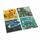 Set of 4 Ceramic Van Gogh Coasters additional 1