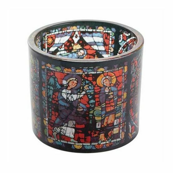 Chartres - Stained Glass Tealight Holder