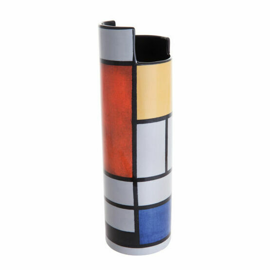Mondrian Composition with Large Red Plane Vase
