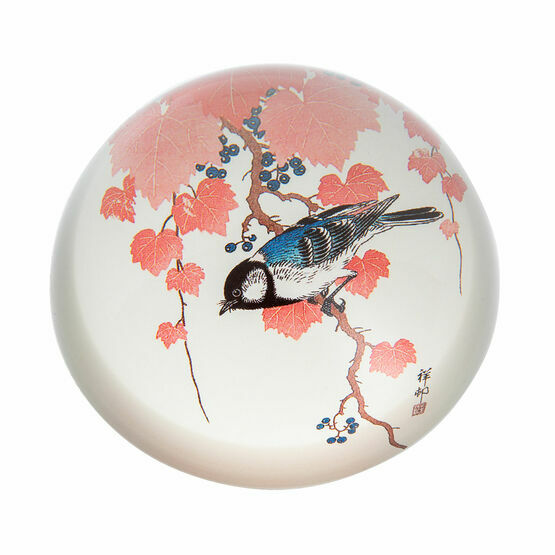 Koson - Great Tit and Grape Vine Paperweight