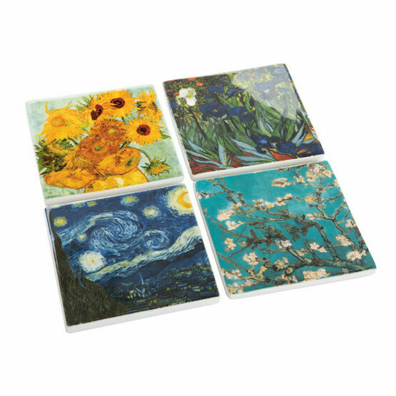 Set of 4 Ceramic Van Gogh Coasters