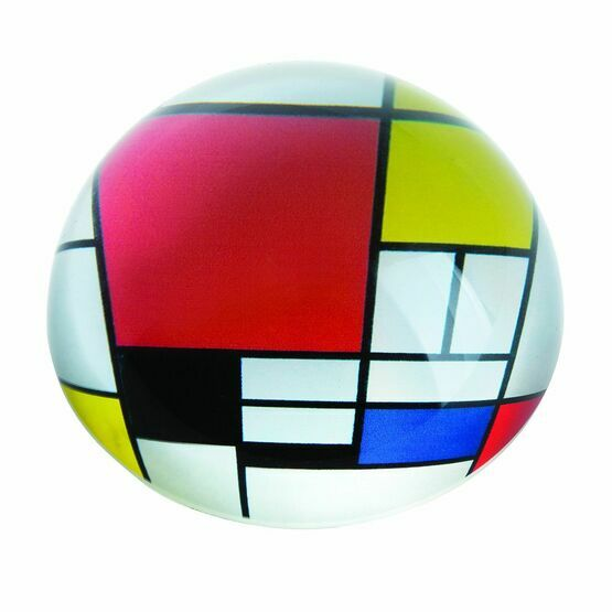 Mondrian Composition with Red Plane Paperweight